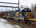 CSX 2312 slug on W054 work train